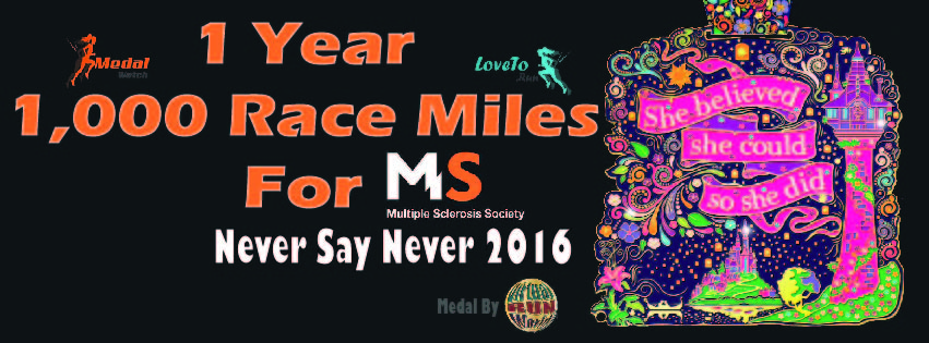 1000 Race Miles in 2016 – (Almost) one week to go